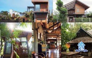 แต่งบ้าน แต่งสวน 5 แบบบ้านไม้สองชั้น
