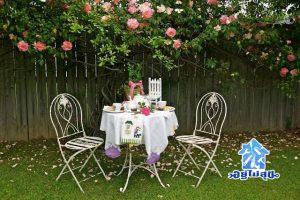 แต่งบ้าน แต่งสวน โต๊ะในสวน